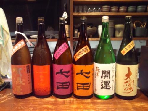 今週再入荷のお酒第二弾(大信州・鍋島・開運・七田・賀儀屋)