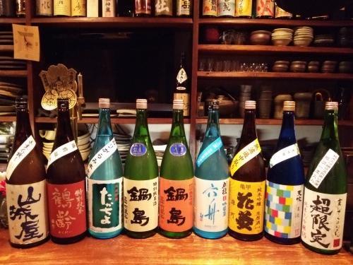 日本酒の今週の新顔は、山城屋・たかちよ・鍋島・花菱・天吹です