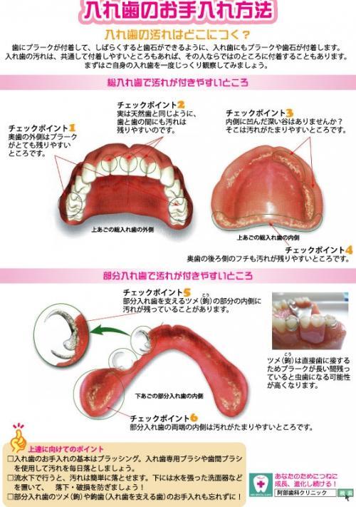 足利市歯科医療情報 入れ歯のお手入れ方法について