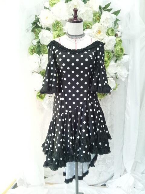 社交ダンス衣装「水玉ドレス」
