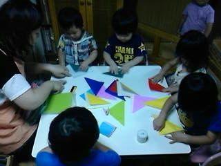 かんたん三角でおさかな作り