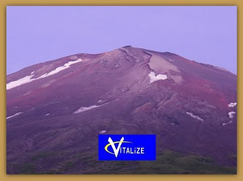 ハート雪渓〜富士山2014-7