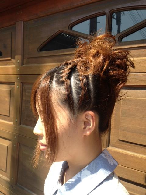高崎祭りヘアセット