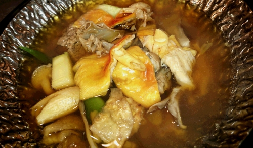 タマゴタケとトリップのスープ仕立て
