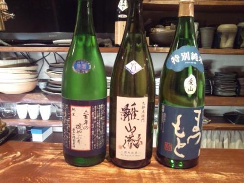 今週の新顔日本酒は、雅山流・澤屋まつもと・寿虎屋が入荷!