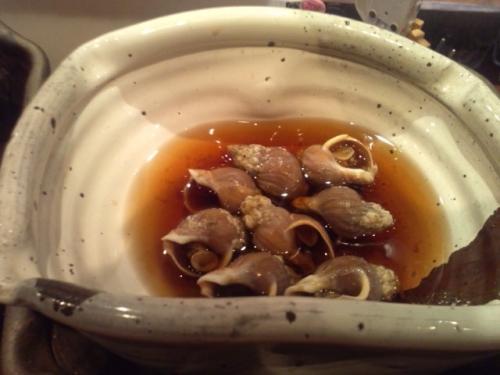 今日の大皿料理(2 )磯つぶ貝の酒蒸し