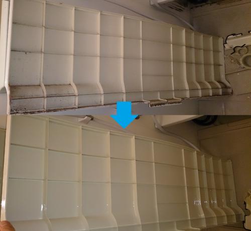 浴槽の裏側(バスタブの裏側)のカビ汚れ高圧洗浄!