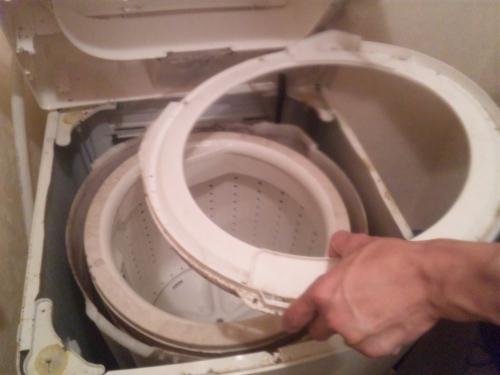 港北区で洗濯機分解クリーニング