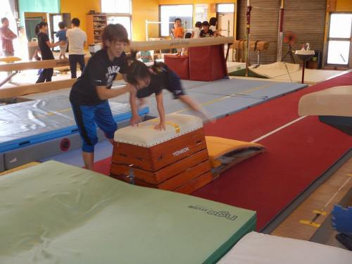 今日の「あすなろ体操くらぶ」とび箱チャレンジ教室