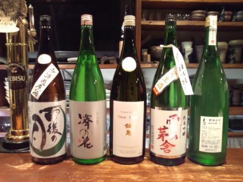 今週は、鍋島・雨後の月・澤の花・大信州の新酒が新顔入荷です