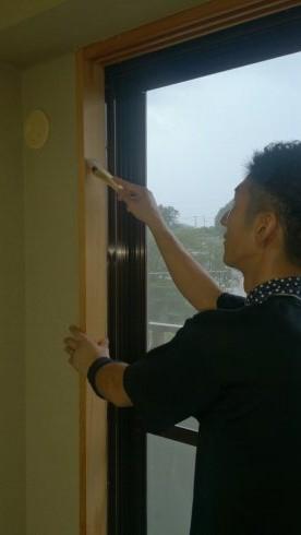 横浜市の木部・灰汁洗い清掃