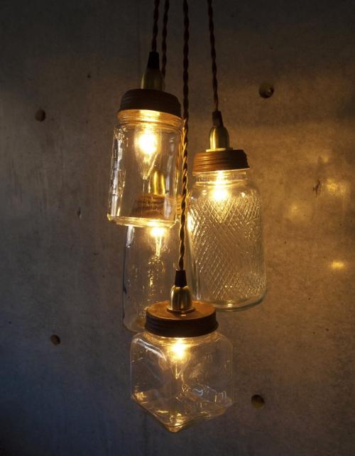 ヴィンテージボトル型ランプ