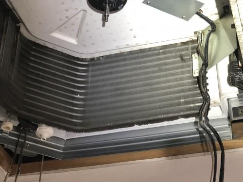 業務用エアコン 洗浄後、熱交換器