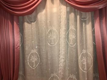 リネン 刺繍 オーダーカーテン