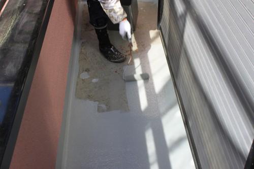 所沢市 ベランダ床塗装
