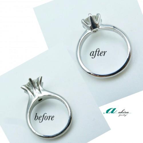 立て爪婚約指輪