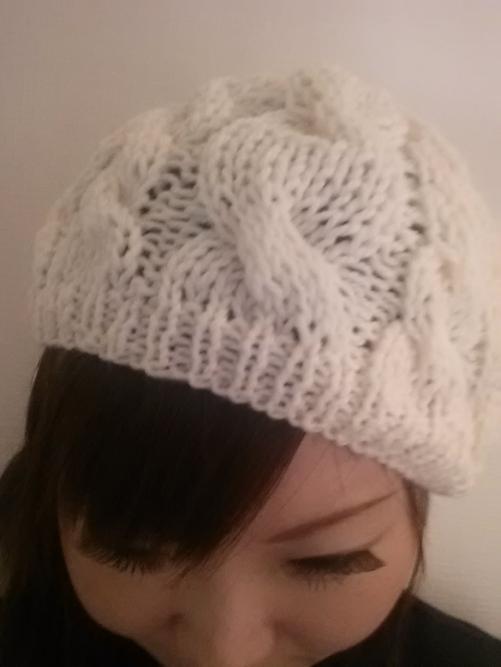 手編みのニット帽♪