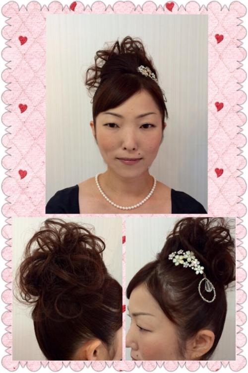 結婚式のおよばれヘア