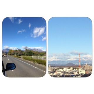 秋の日光連山・冬の日光連山