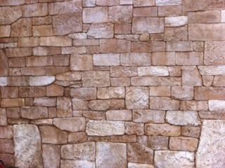 石積み風のモルタル造形 住宅のエクステリアや壁にも