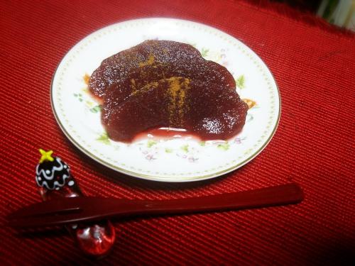 今週のカキラお茶請け【林檎の赤ワイン煮】