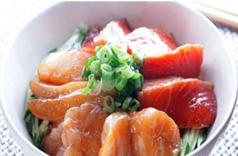 『肝臓労わりレシピ:海鮮丼』