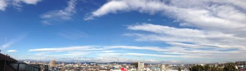 美しい空、美しい雲、美しい山
