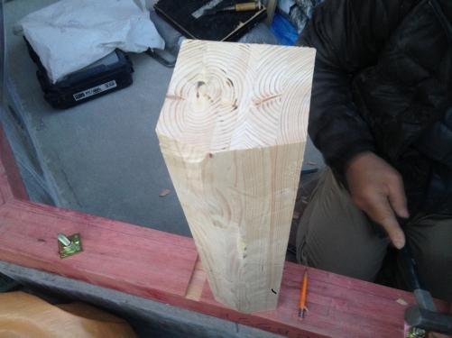 コンサバトリー コーナー柱は八角形