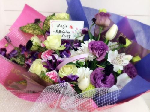 お客様よりお花を頂きました!