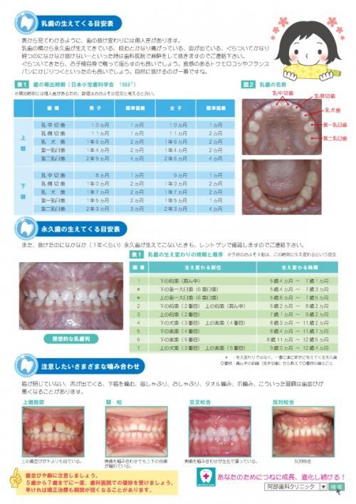 足利市歯科医療情報 小児歯科