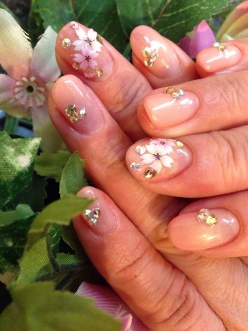 入学式のネイルは桜のアートで!