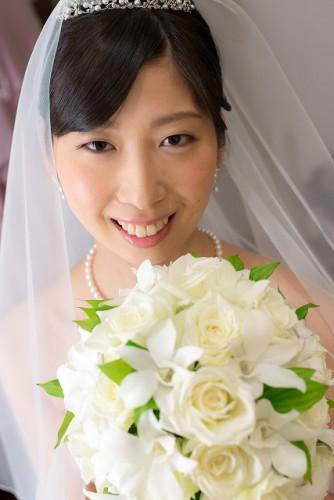 アマンダンブルー挙式花嫁さん
