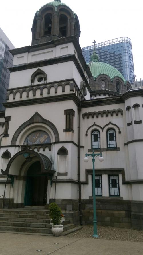 千代田区のニコライ堂にて