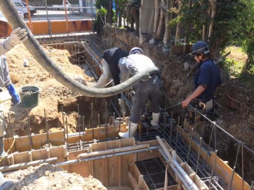 坂根歯科医院様、基礎コンクリート打設