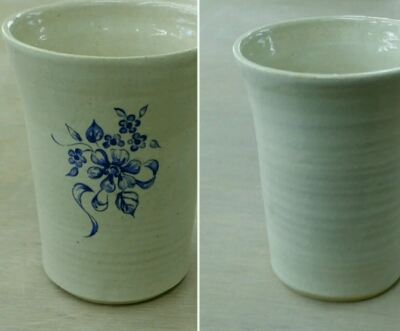白い無地のマグカップも上絵転写紙でこんなに変わります。