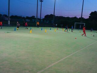酒門校サッカースクール開催中