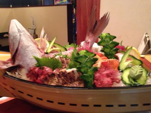 富士宮市居酒屋の舟盛り