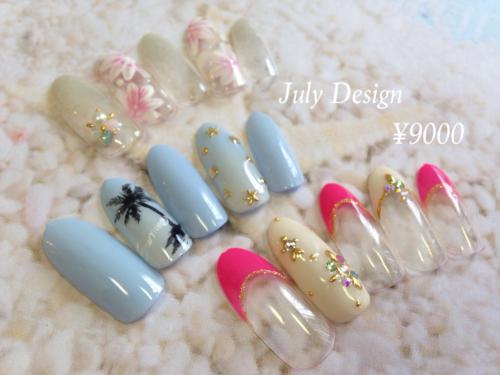 July¥9000デザインネイル