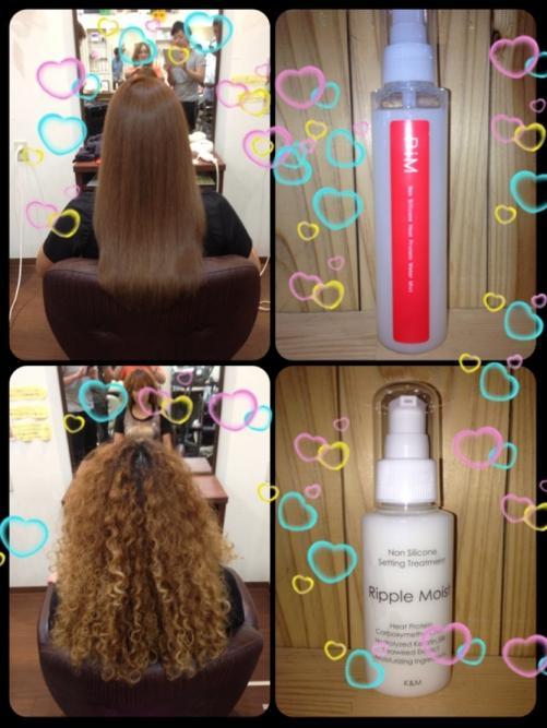 紫外線や乾燥から髪をガードし栄養補給するスタイリング剤
