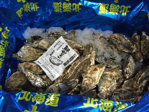 今年も北海道より昆布森の牡蠣が入っています!