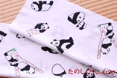 手ぬぐい かわいいパンダ