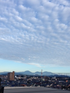 久しぶりに日光連山が見えました!