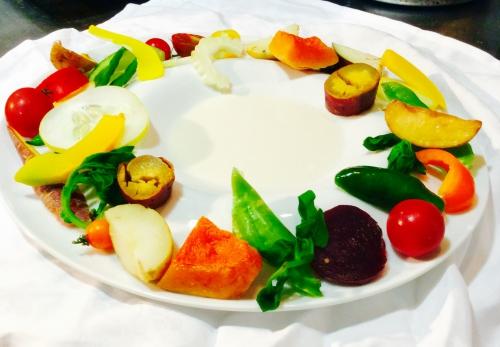 八ヶ岳から秋野菜の盛り合わせ
