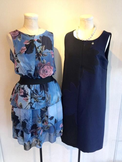ブルーの花柄ドレス  リナシメント