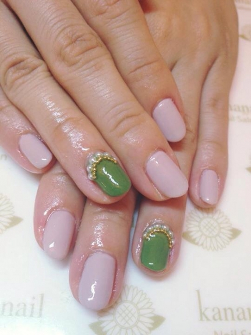 ☆earth color simple nail☆