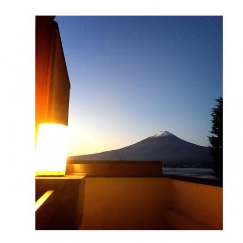 温泉旅行と富士山