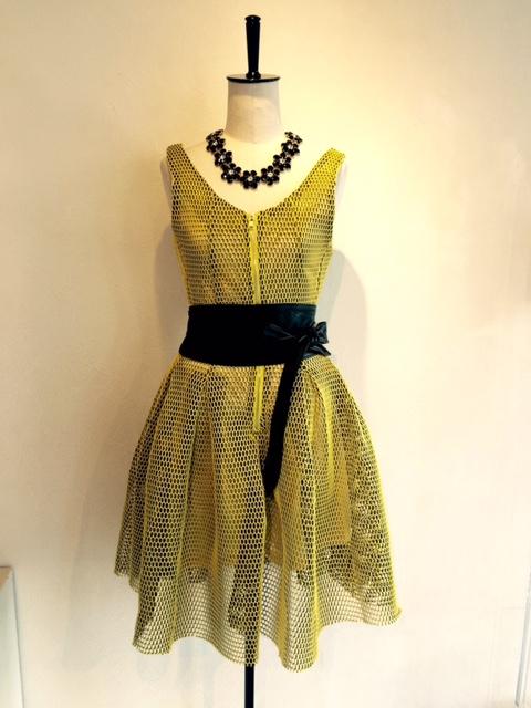 イエローネットドレス
