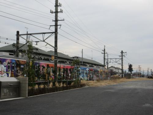 秩父鉄道 カラフルな車両。