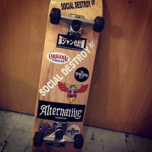 新潟 古町 barber skateboard