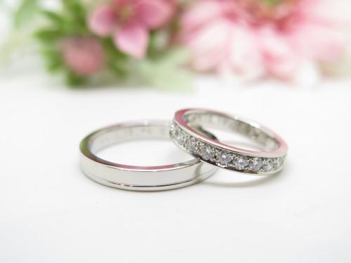 オーダメイド結婚指輪 千葉 エタニティリング プラチナ
